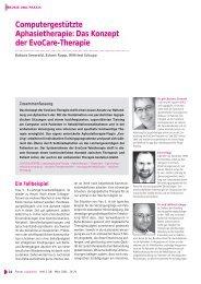 Das Konzept der EvoCare-Therapie - Dr.Hein