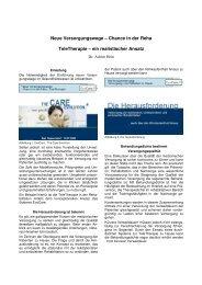 Chance in der Reha TeleTherapie - Dr.Hein