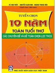 Tuyển chọn 10 năm toán tuổi thơ - THCS (2015)