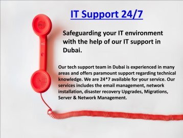 Get Reliable IT Support in Dubai available 24/7 Dial - 0502053269