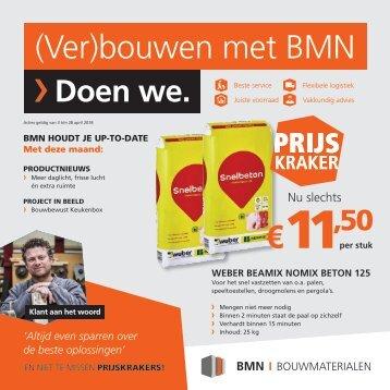 BMN krant - (ver)bouwen met bmn > doen we. Editie april 2018