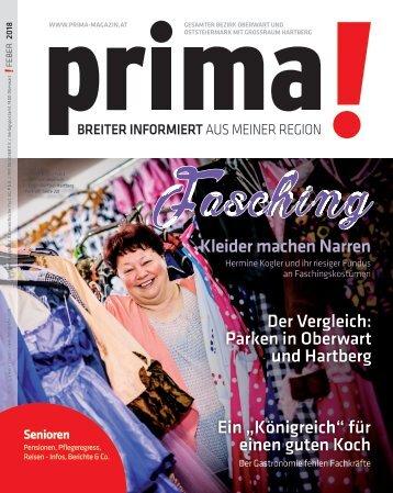 prima! Magazin – Ausgabe Feber 2018