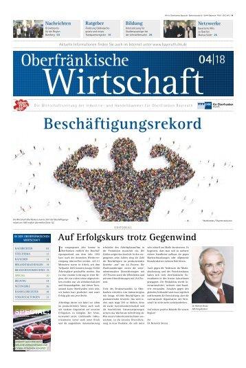 Oberfränkische Wirtschaft Ausgabe 04.2018