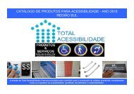 Catálogo produtos acessibilidade arquitetônica - SUL 2018