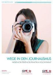 GPA-djp Broschüre_Wege in den Journalismus 2017