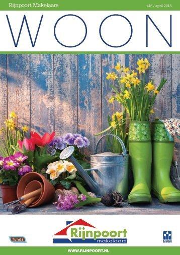Rijnpoort Makelaars WOON magazine #46, uitgave april 2018