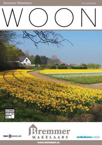 Bremmer Makelaars WOON magazine, april 2018