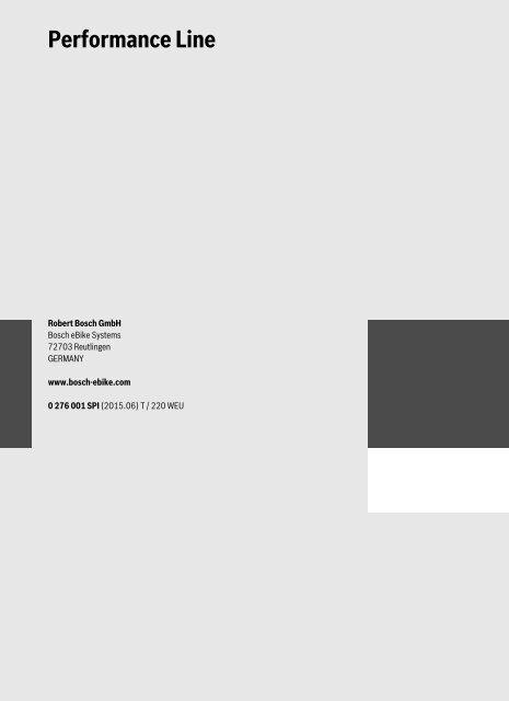 Manual Bosch eBike Performance Line - Intuvia