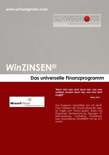 WinZINSEN® - SCHWEIGHOFER Manager