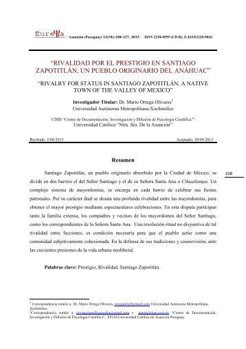 Rivalidad por el Prestigio en Santiago Zapotitlán, un pueblo originario del Anáhuac