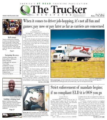 The Trucker Newspaper - April 1, 2018