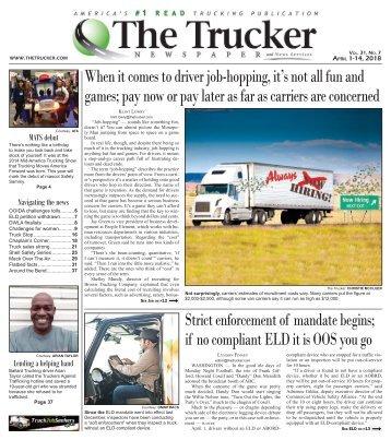 The Trucker Newspaper - April 1, 2018
