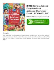 [PDF] Download Junior Encyclopedia of Animated Characters Ebook   READ ONLINE