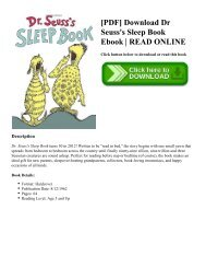 [PDF] Download Dr Seuss's Sleep Book Ebook READ ONLINE