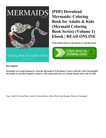 [PDF] Download Mermaids: Coloring Book for Adults & Kids (Mermaid Coloring Book Series) (Volume 1) Ebook | READ ONLINE