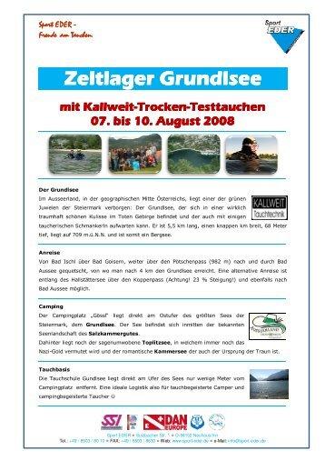 Zeltlager Grundlsee Zeltlager Grundlsee mit Kallweit ... - Tauchshop