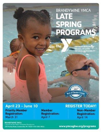 Brandywine YMCA - Late Spring Programs 2018