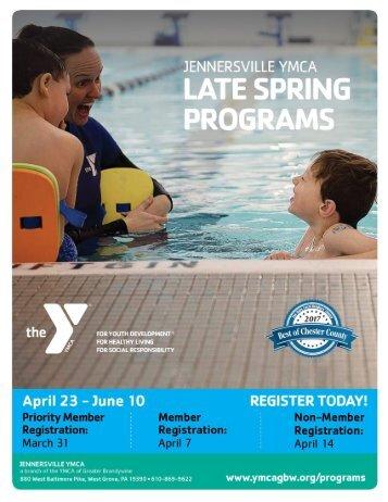 Jennersville YMCA -  Late Spring Programs 2018