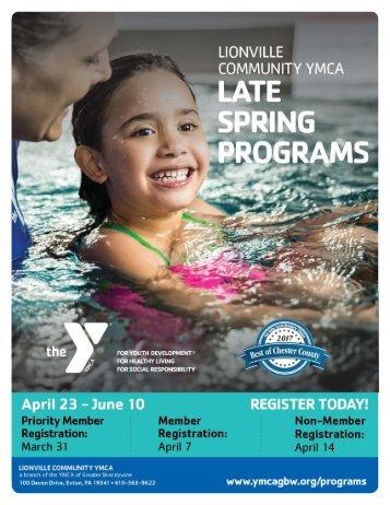 Lionville Community YMCA - 2018 Late Spring Programs