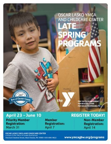 Oscar Lasko YMCA & Childcare Center - Late Spring Programs 2018