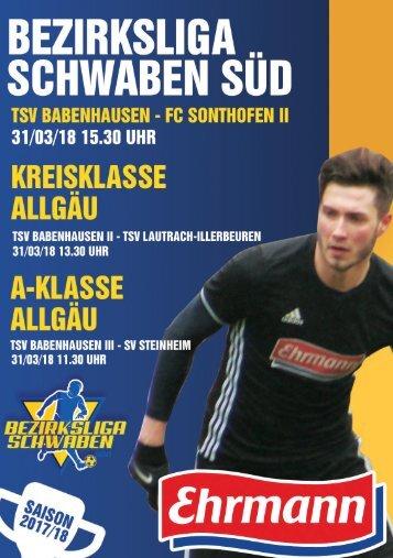 20180331 Fuggermärktler TSV 1862 Babenhausen – FC Sonthofen II