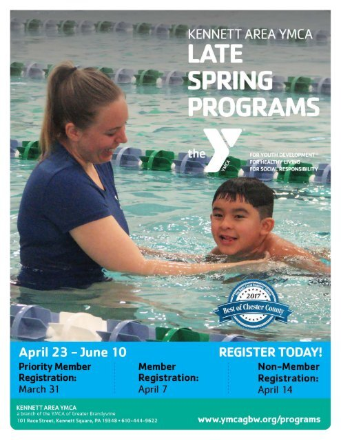 Kennett Area YMCA - Late Spring Programs 2018
