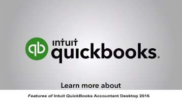 Features of Intuit QuickBooks Accountant Desktop 2016