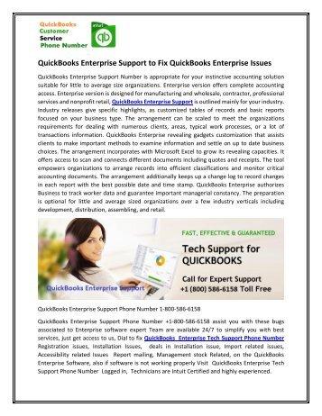 QuickBooks Enterprise Support to Fix QuickBooks Enterprise Issues