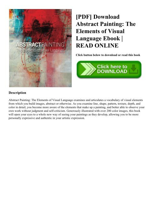 Pdf Download Abstract Painting The Elements Of Visual