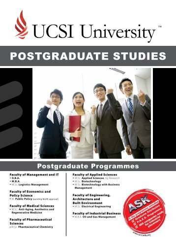 POSTGRADUATE STUDIES - UCSI