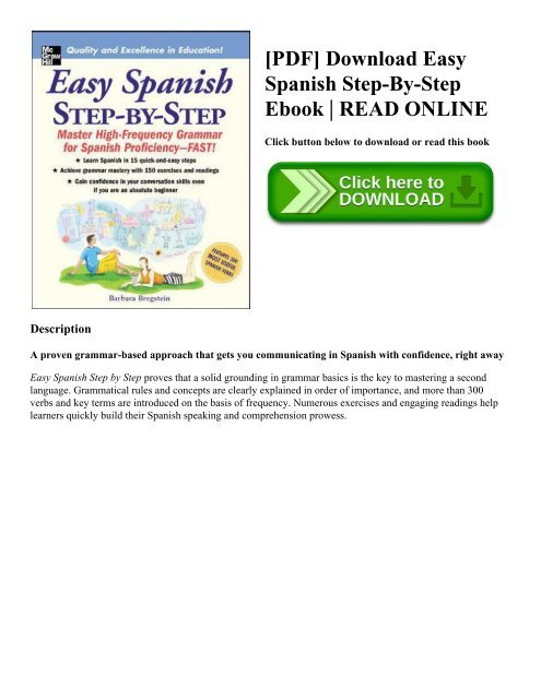 Pdf Download Easy Spanish Step By Step Ebook Read Online