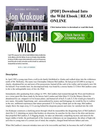 [PDF] Download Into the Wild Ebook | READ ONLINE