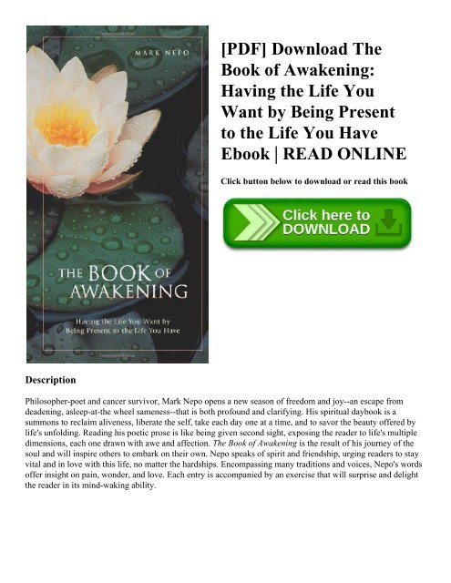 PDF] Download The Book of Awakening: Having the Life You Want by