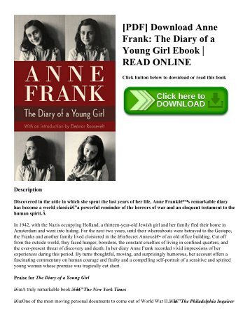 [PDF] Download Anne Frank: The Diary of a Young Girl Ebook   READ ONLINE