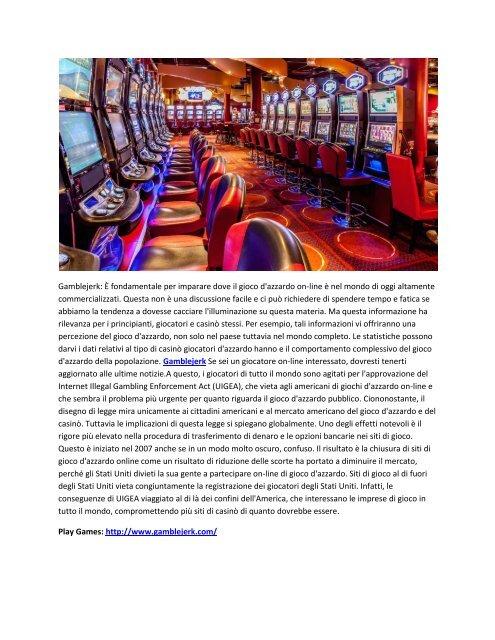 ONLINE GAMBLING & CASINO & OTHER GAMES