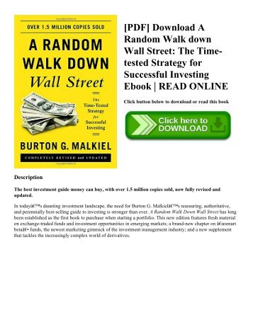 [PDF] Download A Random Walk down Wall Street: The Time-tested Strategy for Successful Investing Ebook | READ ONLINE