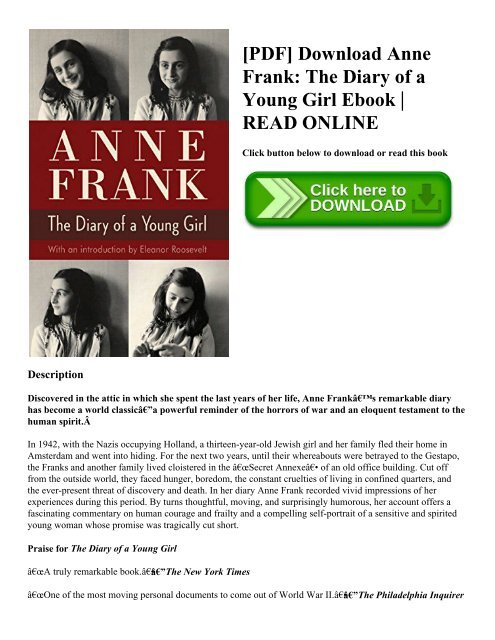 Girl a anne pdf diary of frank