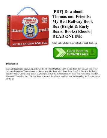 [PDF] Download Thomas and Friends: My Red Railway Book Box (Bright & Early Board Books) Ebook | READ ONLINE