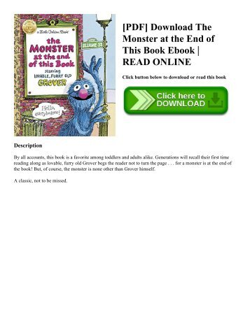 Pdf download the end of alzheimers the first program to prevent pdf download the monster at the end of this book ebook read online fandeluxe Choice Image