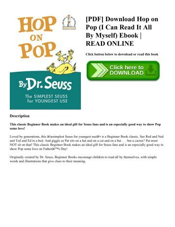 [PDF] Download Hop on Pop  (I Can Read It All By Myself) Ebook | READ ONLINE