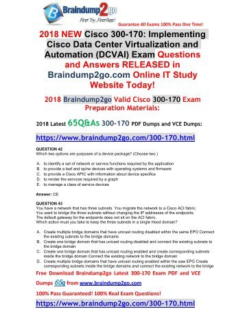 [2018-March-Version]New 300-170 VCE and 300-170 PDF Dumps Free Share(42-49)