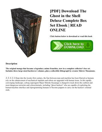 [PDF] Download The Ghost in the Shell Deluxe Complete Box Set Ebook | READ ONLINE