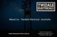 About Us - Twidale Electrical - Australia
