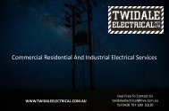 Commercial Residential And Industrial Electrical Services Australia