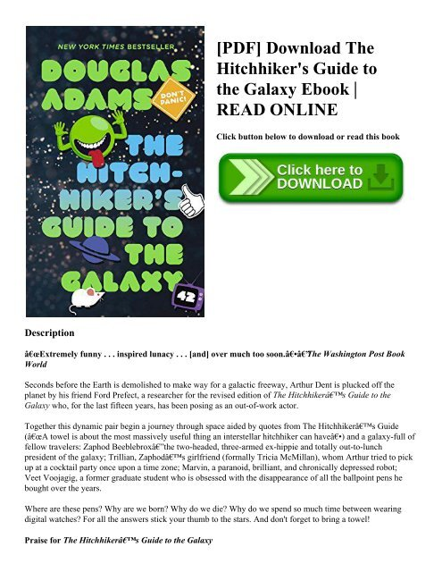 Hitchhikers Guide To The Galaxy Pdf