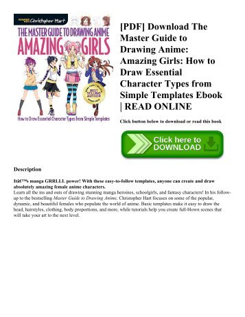 [PDF] Download The Master Guide to Drawing Anime: Amazing Girls: How to Draw Essential Character Types from Simple Templates Ebook | READ ONLINE