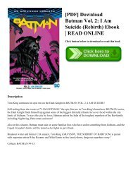 [PDF] Download Batman Vol. 2: I Am Suicide (Rebirth) Ebook | READ ONLINE
