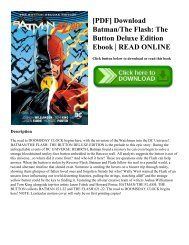 [PDF] Download Batman/The Flash: The Button Deluxe Edition Ebook | READ ONLINE