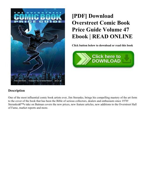 PDF] Download Overstreet Comic Book Price Guide Volume 47 Ebook