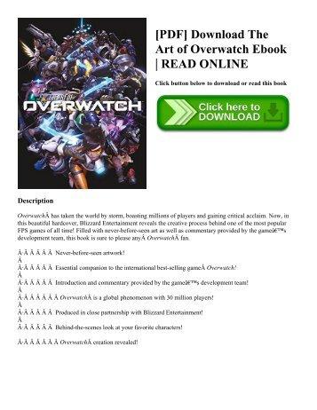 [PDF] Download The Art of Overwatch Ebook | READ ONLINE